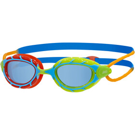 Zoggs Predator Gogle Dzieci, red green/blue orange/tint